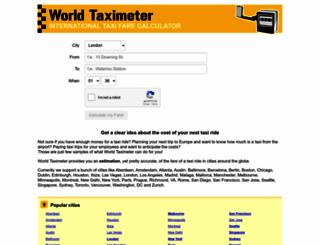 worldtaximeter.com screenshot