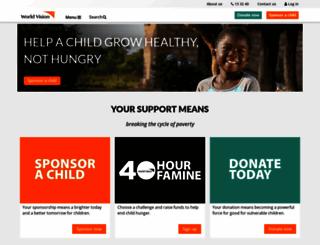 worldvision.com.au screenshot