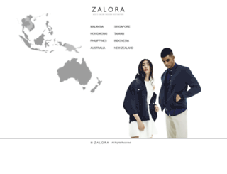 worldwide.zalora.com screenshot