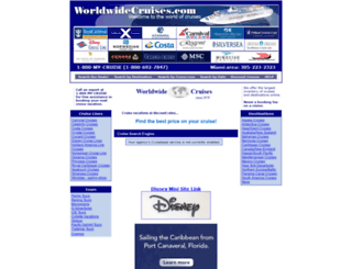 worldwidecruises.com screenshot