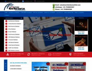 worldwideemaillist.com screenshot