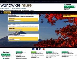 worldwideinsure.com screenshot
