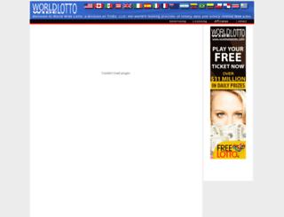 worldwidelotto.com screenshot