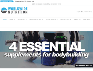 worldwidenutrition.net screenshot