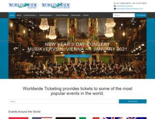 worldwideticketing.com screenshot