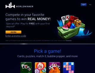 WorldWinner is a cross-platform, skill-based games community that operates competitive cash tournaments for web, mobile web, and mobile platforms.