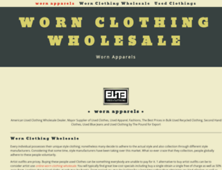 worn-clothing-wholesale.yolasite.com screenshot