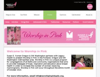 worshipinpinkpdx.org screenshot