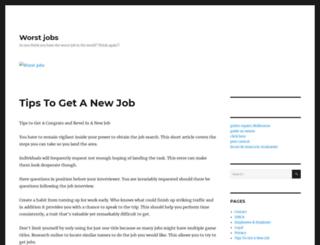 worst-jobs.com screenshot