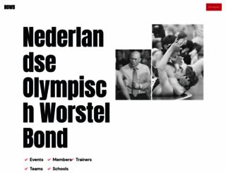 worstelbond.nl screenshot