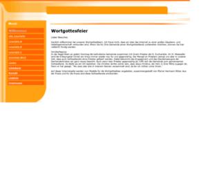 wortgottesfeier.npage.de screenshot