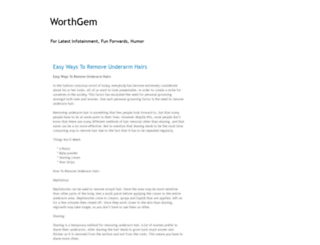 worthgem.blogspot.com screenshot