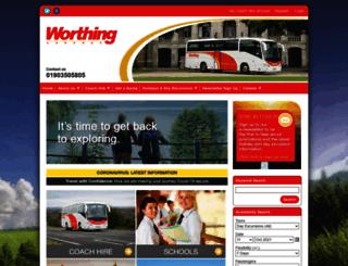 worthing-coaches.co.uk screenshot