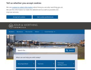 worthing.gov.uk screenshot