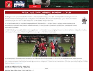 worthingfootballclub.co.uk screenshot
