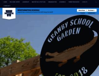 worthingtonschools.schoolwires.net screenshot