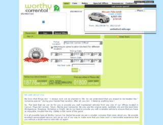 worthycancuncarrental.com screenshot