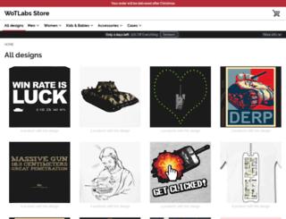 wotlabs.spreadshirt.com screenshot