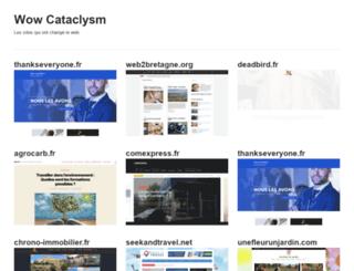 wow-cataclysm.fr screenshot