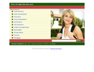 wow-private-servers.com screenshot