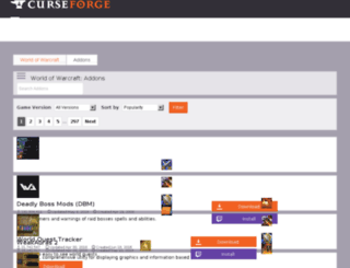 wow.curse.com screenshot