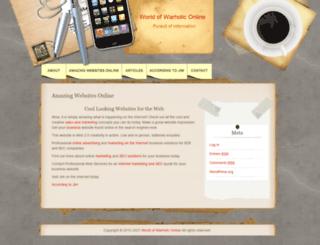 wow.jimwarholic.com screenshot