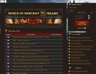 wowarcraftstreams.com screenshot