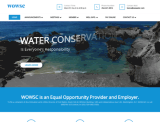 wowater.com screenshot