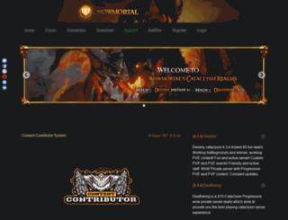 wowmortal.com screenshot