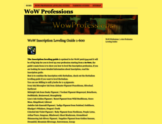 wowprofessions.net screenshot