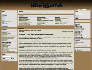 wowroster.net screenshot