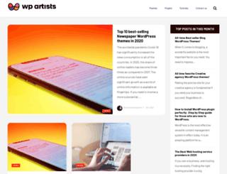wp-artists.com screenshot