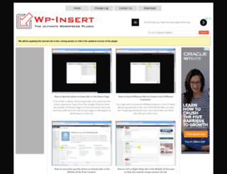 wp-insert.smartlogix.co.in screenshot