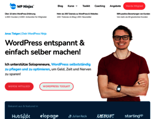 wp-ninjas.de screenshot