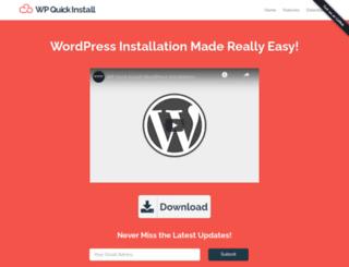 wp-quick-install.com screenshot