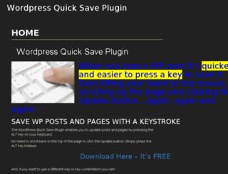 wp-quicksave.com screenshot