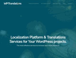 wp-translations.org screenshot