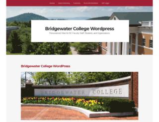 wp.bridgewater.edu screenshot