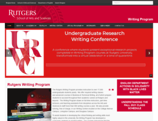 wp.rutgers.edu screenshot