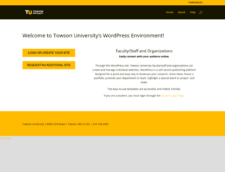 wp.towson.edu screenshot