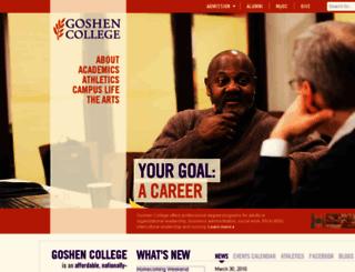 wp3.goshen.edu screenshot