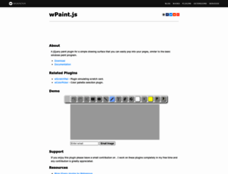 wpaint.websanova.com screenshot