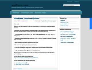 wpburn.com screenshot