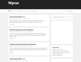 wpcue.com screenshot