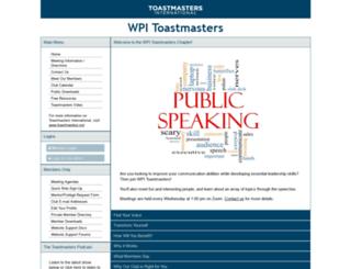 wpi.toastmastersclubs.org screenshot
