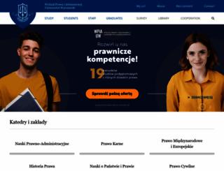 wpia.uw.edu.pl screenshot