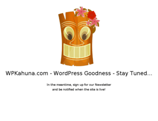 wpkahuna.com screenshot