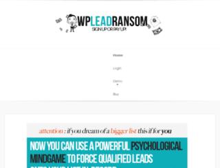 wpleadransom.com screenshot