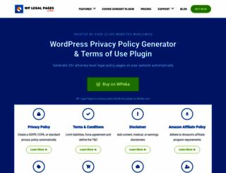 wplegalpages.com screenshot