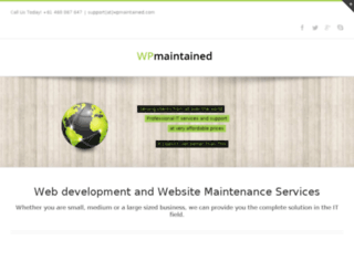 wpmaintained.com screenshot